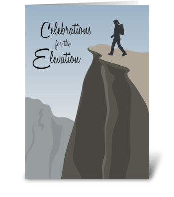 Celebrations for the Elevation greeting card