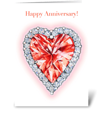 Ruby Wedding greeting card