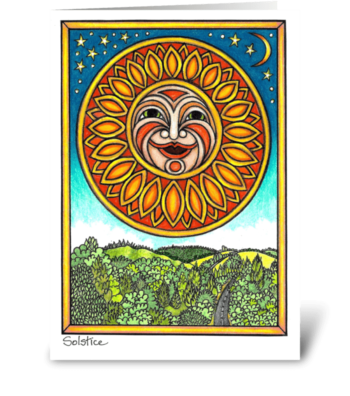 Solstice greeting card
