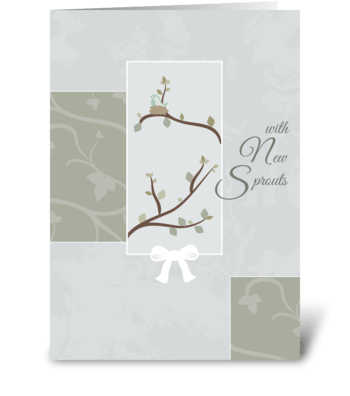 New Sprouts - First Mother's Day greeting card