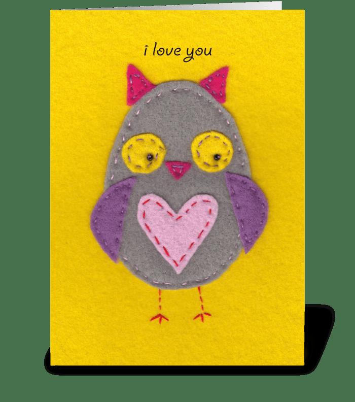 Owl Love greeting card