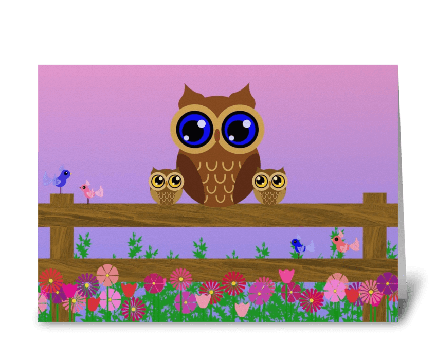 A Spring Evening  greeting card