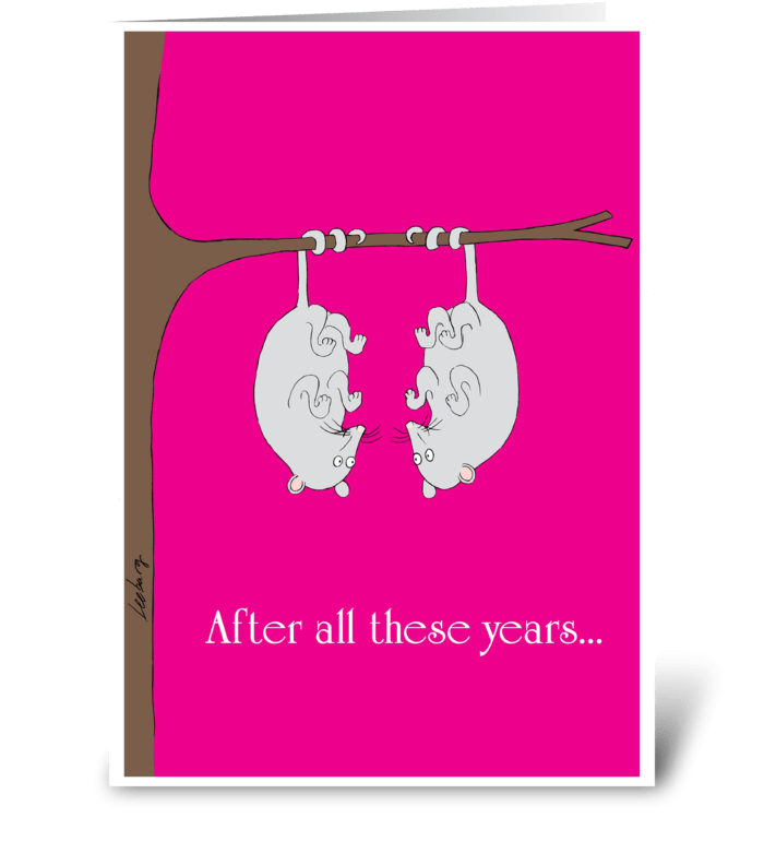 Anniversary Possums greeting card
