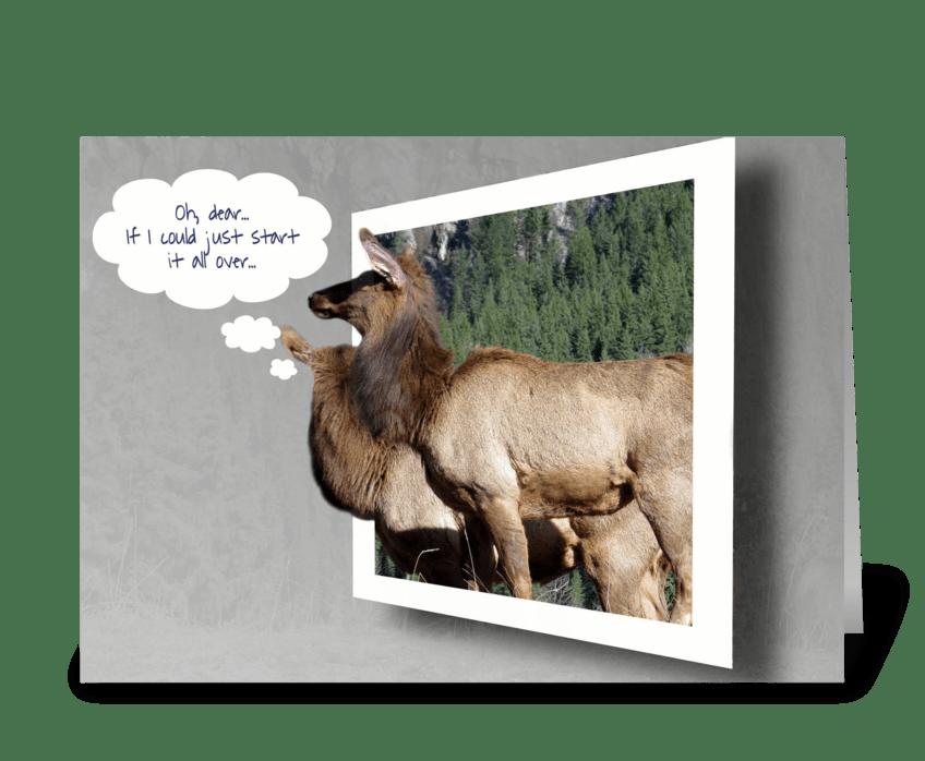 Deer anniversary send this greeting card designed by olga s