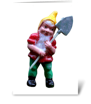 Groovy Garden Gnome greeting card