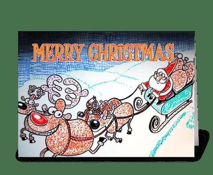 Sleighbells greeting card
