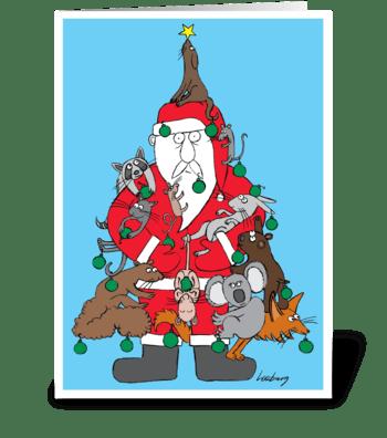 Furry Christmas greeting card