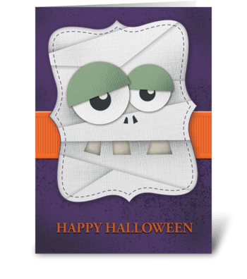 Happy Halloween (Mummy) greeting card