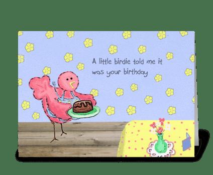 Birthday Birdie greeting card