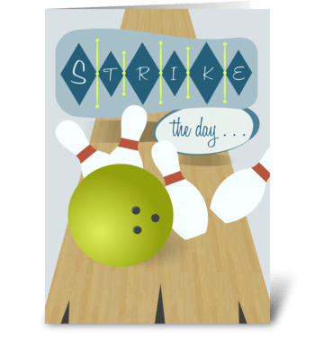Bowling Lane - Father's Day greeting card