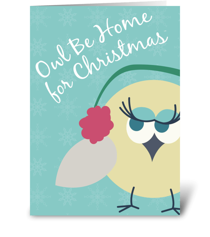 Owl be home for christmas 2 send this greeting card designed by owl be home for christmas 2 greeting card m4hsunfo