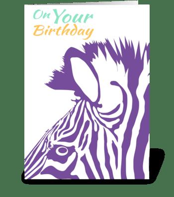 Zebra - Wild Birthday Wishes greeting card