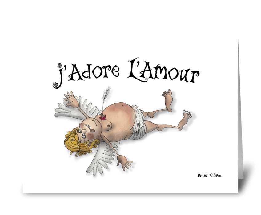 J´adore L´amour greeting card