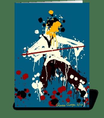 Kung Fu Man greeting card