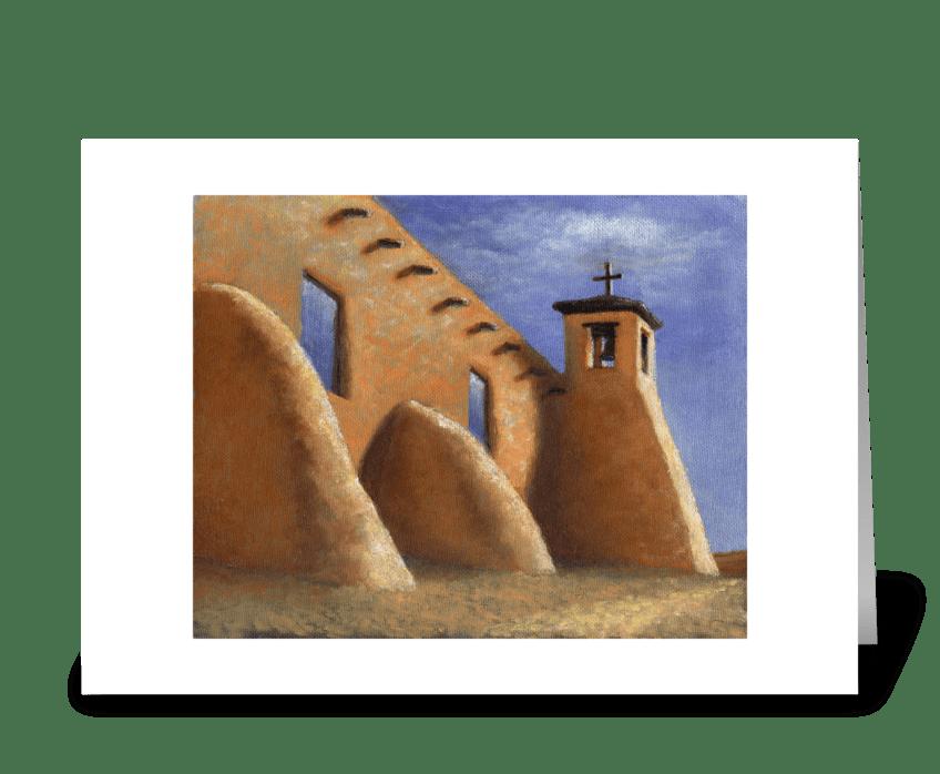 Isleta Pueblo Mission greeting card