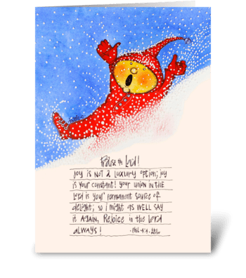 Winter joy greeting card