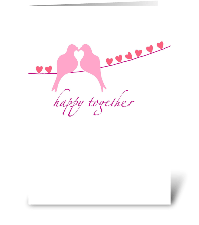 Happy Together - Anniversary greeting card