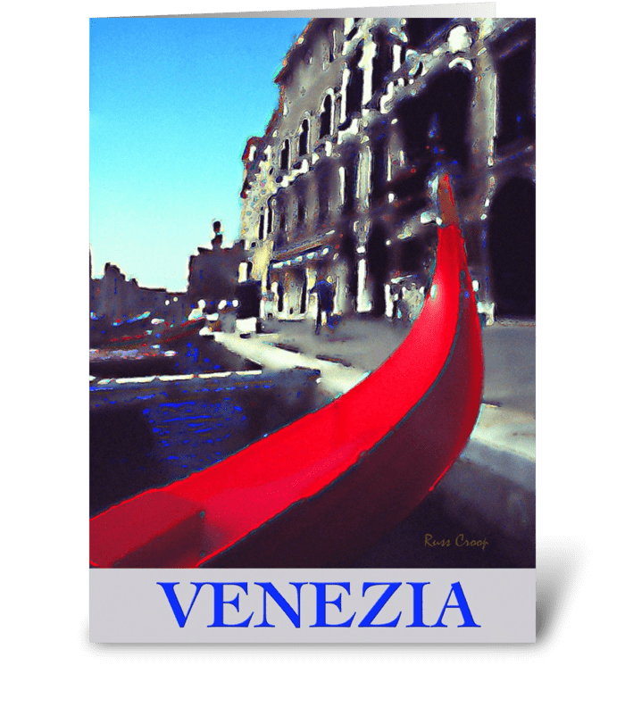 Venice, Italy Travel Poster greeting card