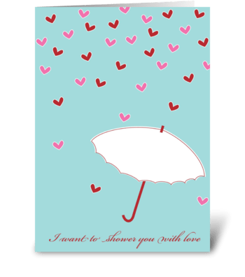 Love Shower greeting card