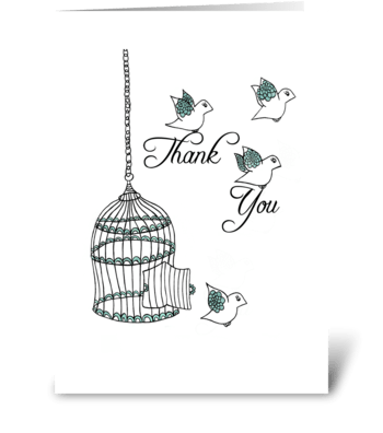 Thank You Birds greeting card