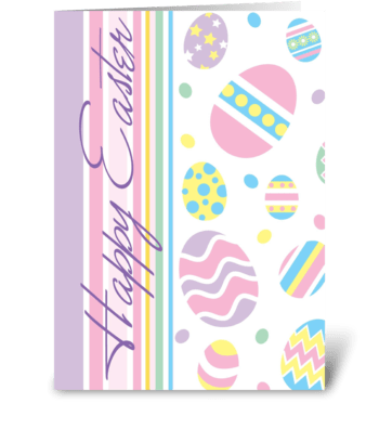 Easter Egg Fun  greeting card