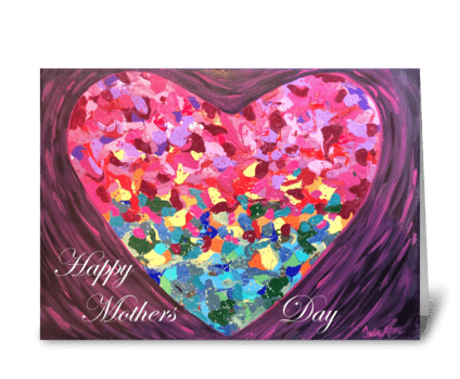 Mothers Day Heart greeting card