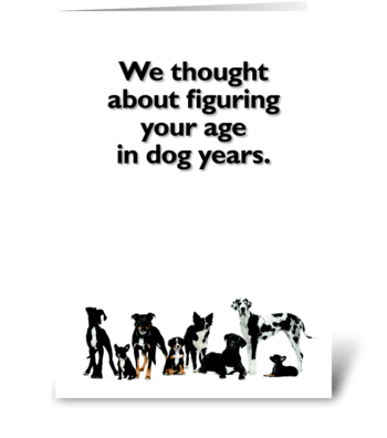 Happy Birthday for Dog Lover greeting card
