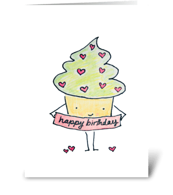 Sassy Birthday Cupcake greeting card