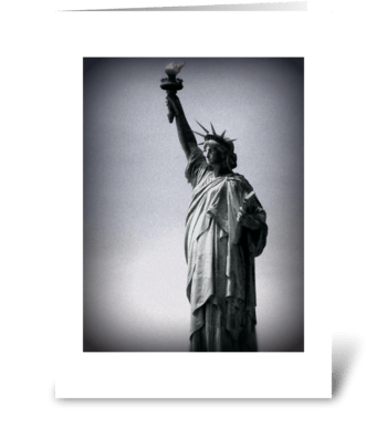 Miss Liberty greeting card