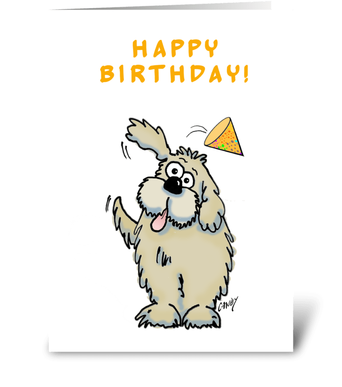 Happy birthday dog. greeting card