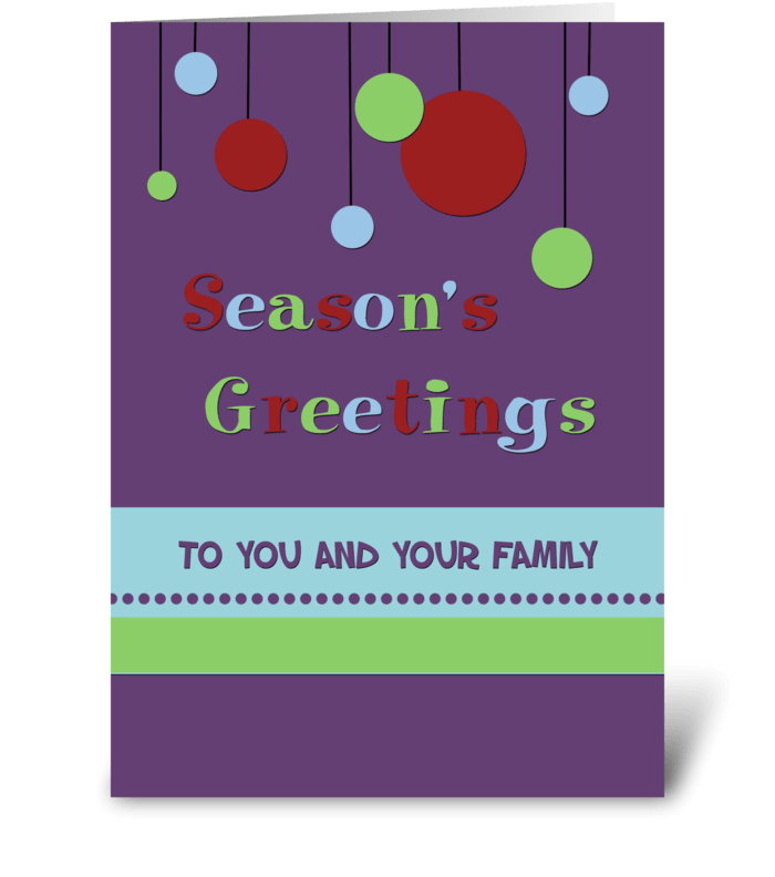Season's Greetings Modern Decorations greeting card