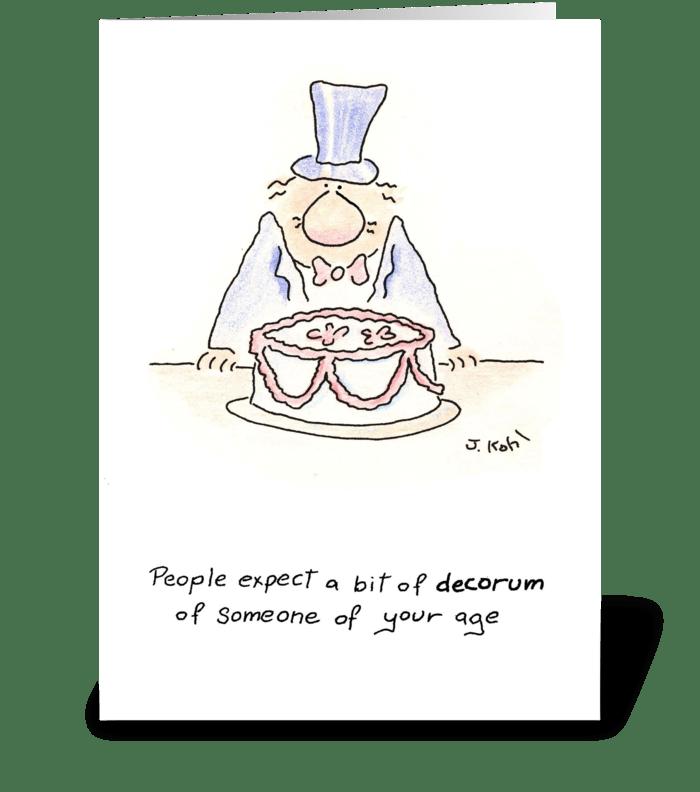 Decorum greeting card