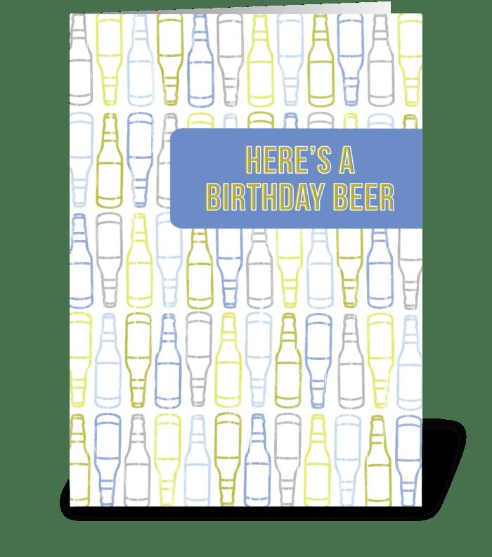 Birthday Beer greeting card