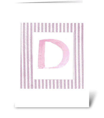 D - Baby Girl greeting card