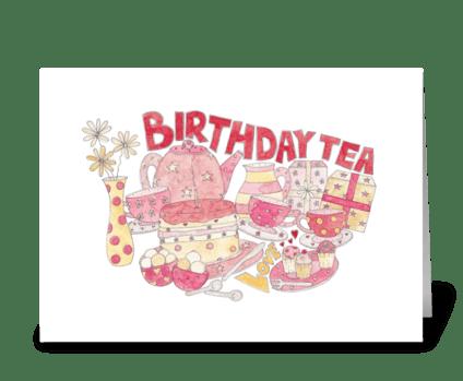 Birthday Tea greeting card