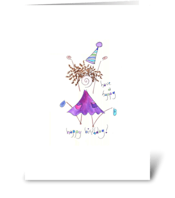have a happy birthday greeting card