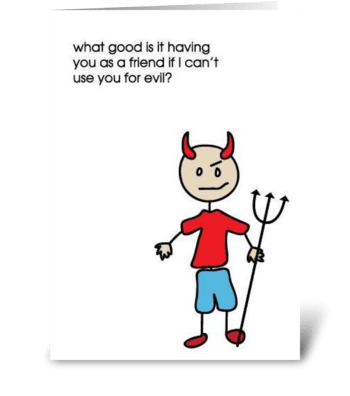 Evil greeting card