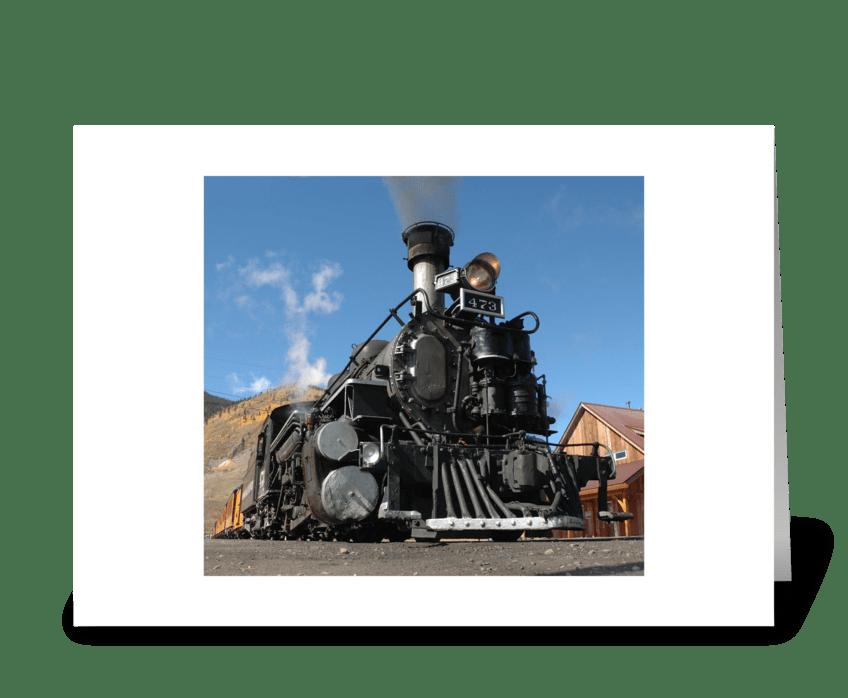 Durango to Silverton Narrow Guage greeting card
