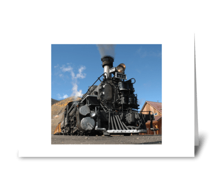 Durango to Silverton Narrow Guage greeting card