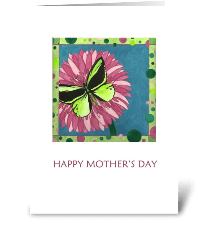 Happy Mother's Day Butterfly greeting card