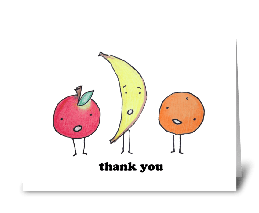 Thank You Fruits greeting card