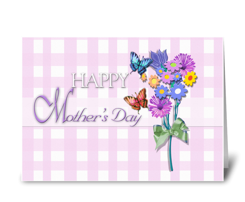 Happy Mother's Day, butterflies greeting card