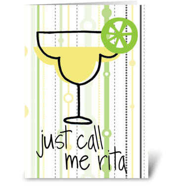 Margarita greeting card
