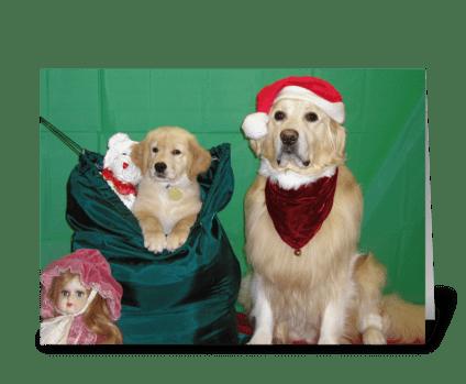 Santa's Christmas Bag greeting card