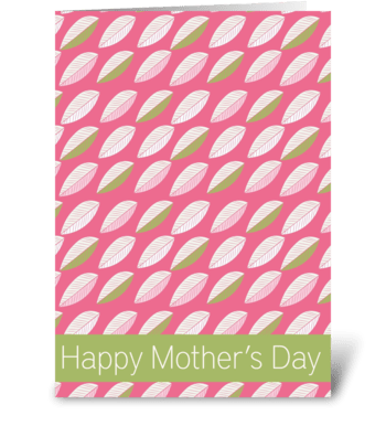 Springtime Mother's Day greeting card
