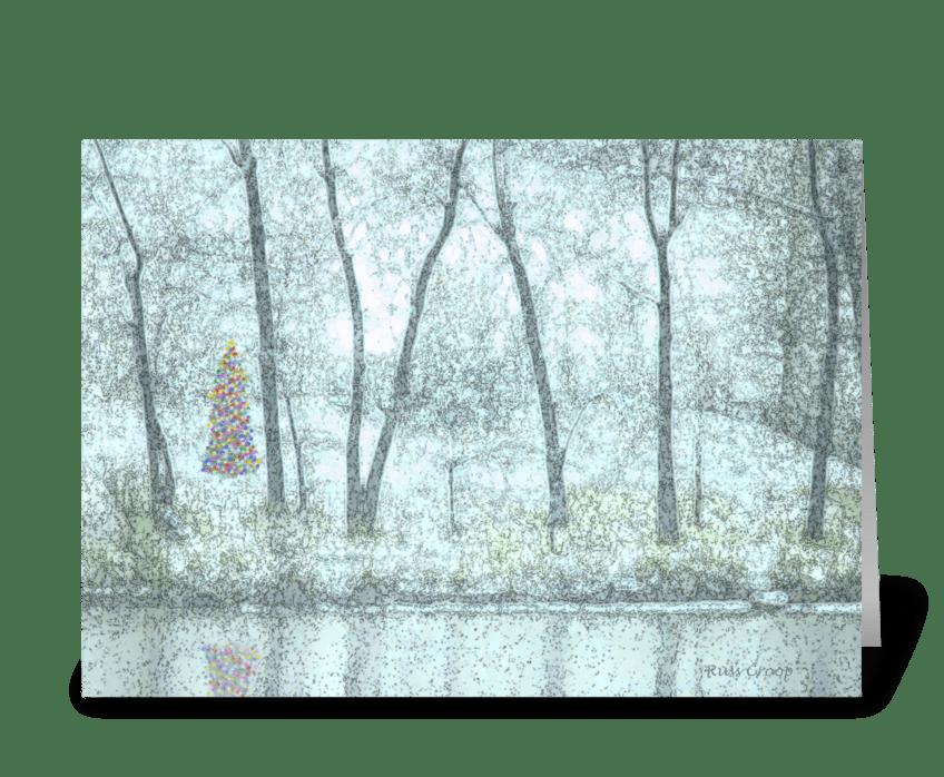 Christmas Trees greeting card
