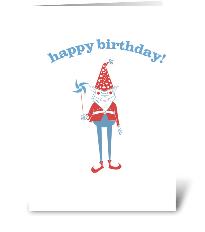 Birthday Gnome greeting card