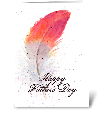 The Best Father greeting card