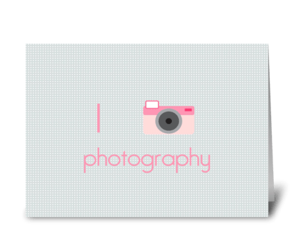 I Heart Photography greeting card