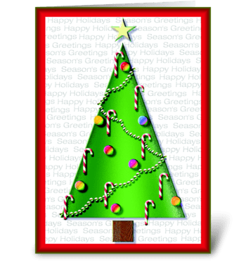 Graphic Tree greeting card